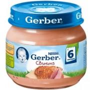 Gerber Пюре Свинина в собственном соку с 6 мес. 80г.
