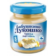 Бабушкино лукошко Пюре Треска-картофель с 8 мес 100г
