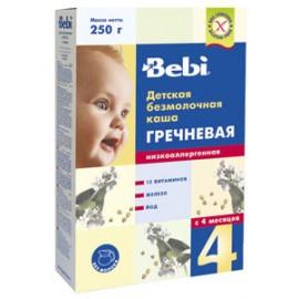 Bebi Каша б/м Гречневая низкоаллергенная, обогащенная пребиотиками с 4 мес. 200г.