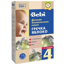 Bebi Каша б/м Гречка, яблоко с 4 мес. 250г.