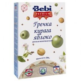 Bebi Premium Каша молочная Гречка, курага, яблоко с 5 мес 200г