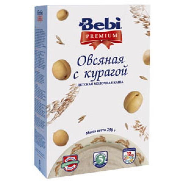 Bebi Premium Каша молочная Овсяная с курагой с 5 мес 250г