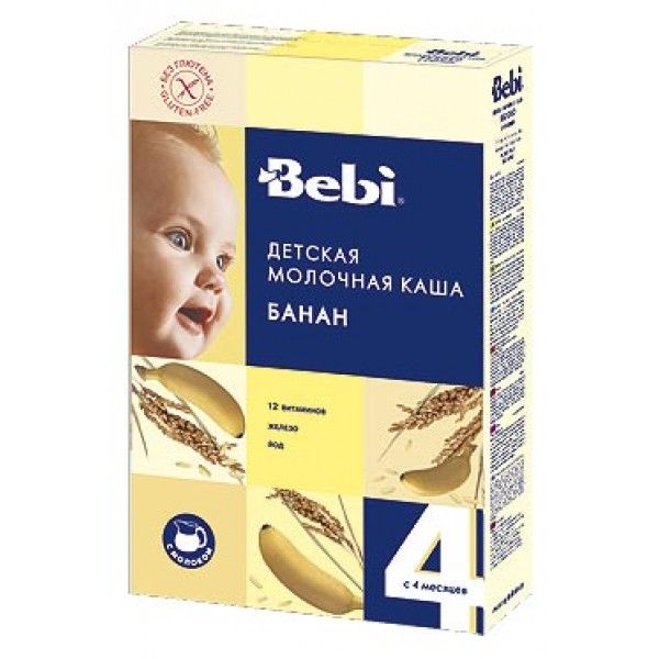 Bebi Каша молочная Рисовая с бананом с 4 мес 250г