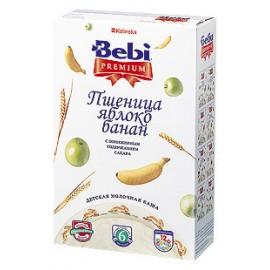 Bebi Premium Каша молочная Пшеница, яблоко, банан с 6 мес 250г