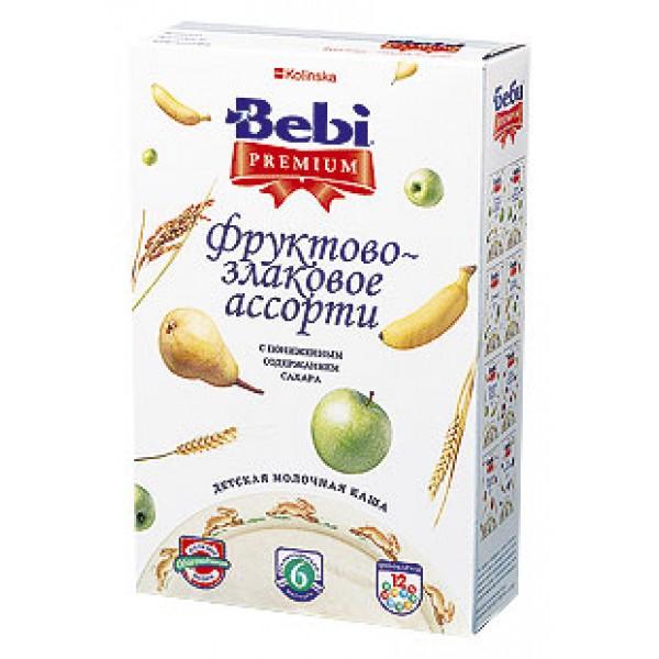Bebi Premium Каша молочная Фруктово-злаковое ассорти с 6 мес 250г