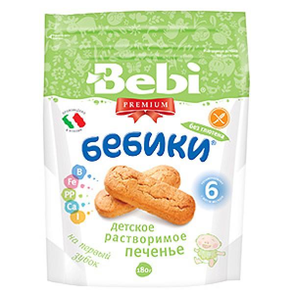 Bebi Premium Детское растворимое печенье «Бебики без глютена», 180 г