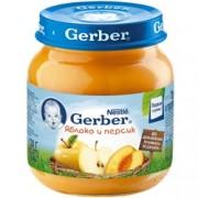 Gerber Пюре  Яблоко и персик с 5 мес. 130г.