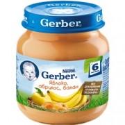 Gerber  Пюре Яблоко, абрикос, банан с 6 мес. 130г.