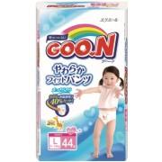 Японские трусики  Goon для девочек L (9-14 кг) 44 шт.