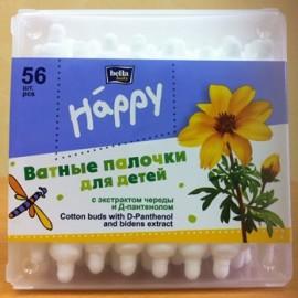 Ватные палочки с ограничителями Bella Baby Happy 56 шт.