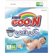 Японские подгузники Goon S (4-8 кг) 84 шт