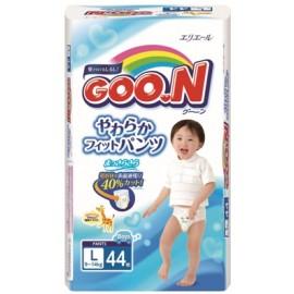 Японские трусики  Goon для мальчиков L (9-14 кг) 44 шт.