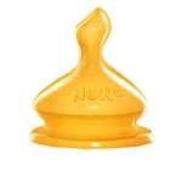 NUK Нук Соска FIRST CHOICE ортодонтическая антиколиковая для молока (M) из латекса размер 1 0-6 мес.