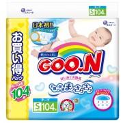 Японские подгузники GOON S (4-8 кг) 104 шт Ultra Jumbo Pack