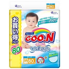 Японские подгузники GOON M (6-11 кг) 80 шт Ultra Jumbo Pack