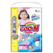 Японские трусики GOON для девочек L (9-14 кг) 56 шт Ultra Jumbo Pack