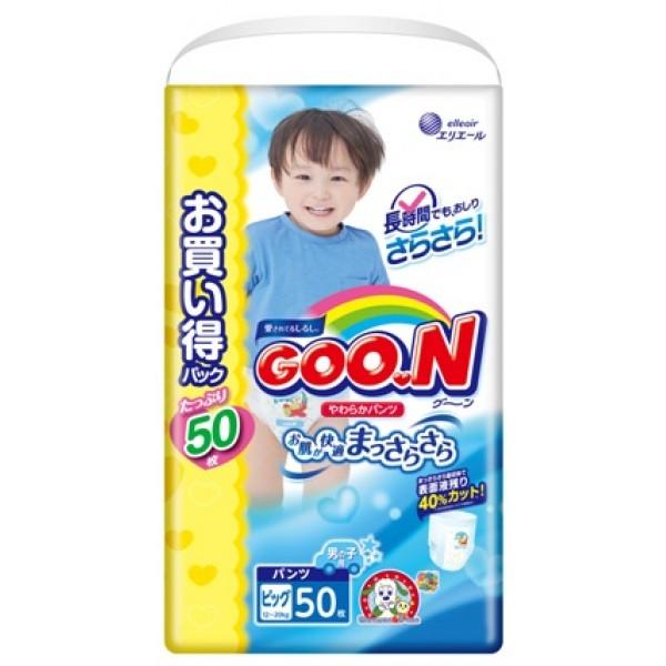 Японские трусики GOON для мальчиков XL (12-20 кг) 50 шт Ultra Jumbo Pack