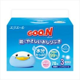 Goon Гун салфетки влажные (сменный блок) 3*70шт