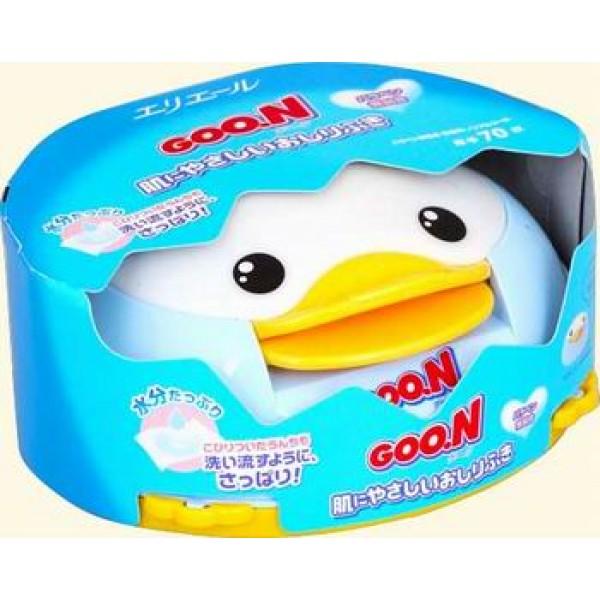 Goon Гун салфетки влажные 70шт в контейнере (утенок - автомат)