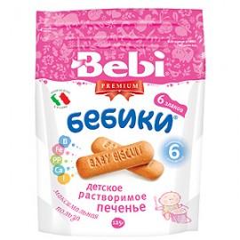 Bebi Premium Детское растворимое печенье «Бебики» 6 злаков, 125 г