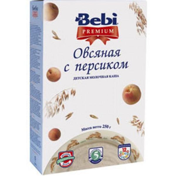 Bebi Premium Каша молочная Овсяная с персиком с 5 мес 250г