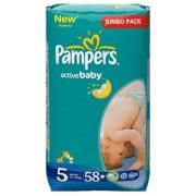 Pampers Подгузники Active Baby 5 (11-18 кг) 58 шт