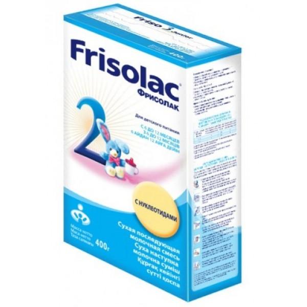 Frisolac Фрисолак Молочная смесь 2 6-12 мес 400г картонная коробка