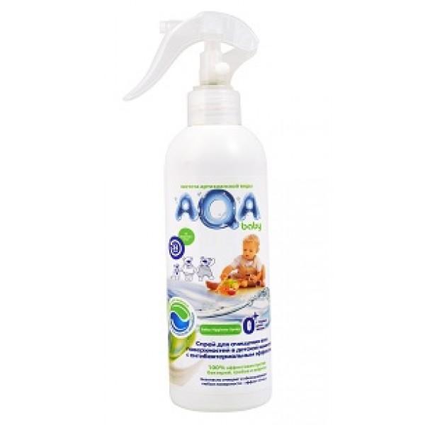 AQA baby Антибактериальный спрей для очистки поверхностей в детской комнате 300 мл