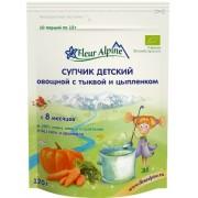 Fleur Alpine Супчик на зерновой основе Овощной с тыквой и цыпленком с 7 мес 120г