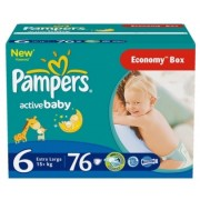 Pampers Подгузники Active Baby 6 (15+ кг) 76 шт