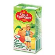 Cады Придонья Сок Яблоко-персик с мякотью с 5 мес 125 мл
