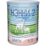Молочная смесь Нэнни на основе козьего молока 2 с пребиотиками с 6 месяцев 400г
