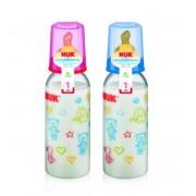 NUK Нук бутылочка пластиковая с ортодонтической  антиколиковой соской из латекса размер 1 240 мл